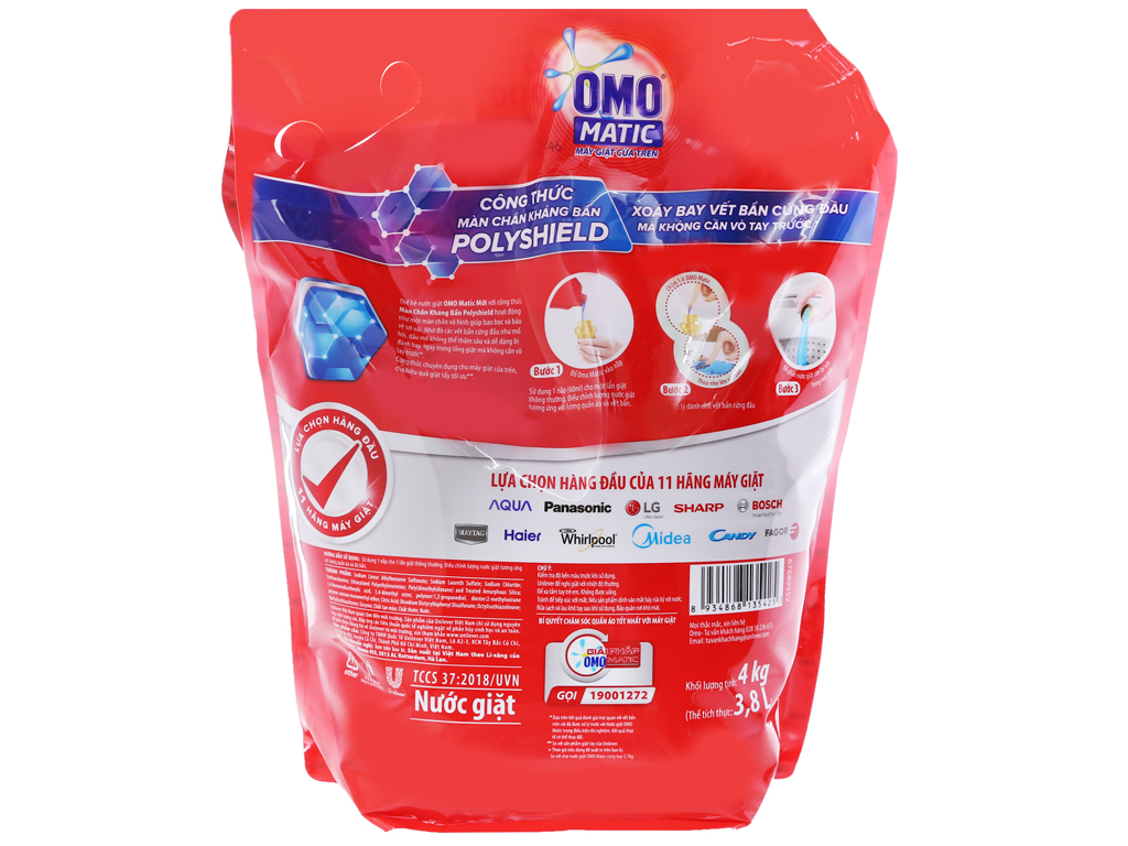 Nước giặt OMO Matic cửa trên 3.8 lít 2