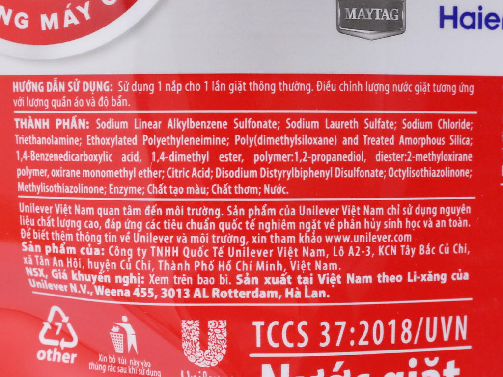 Nước giặt OMO Matic cửa trên 3.8 lít 4