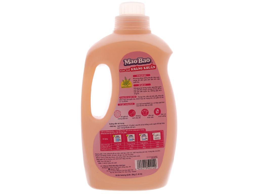 Nước giặt Mao Bao kháng khuẩn hương bách lý chai 1.9 lít 3
