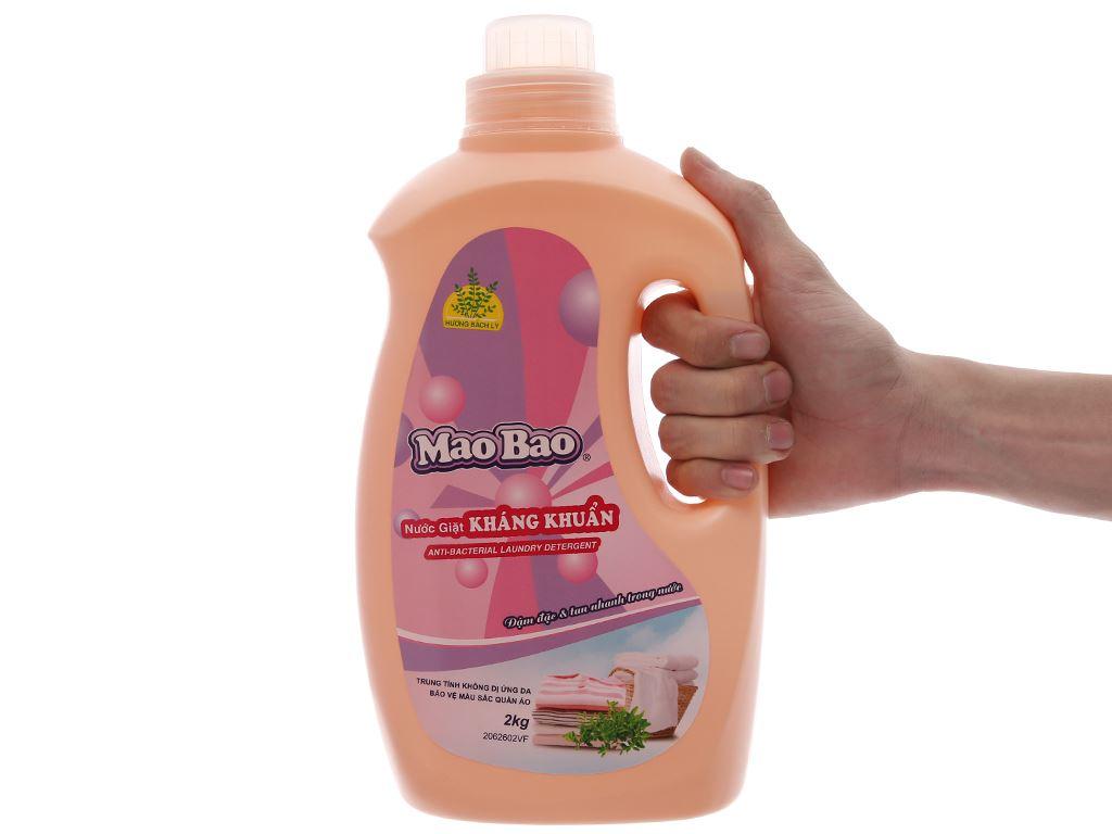 Nước giặt Mao Bao kháng khuẩn hương bách lý chai 1.9 lít 5
