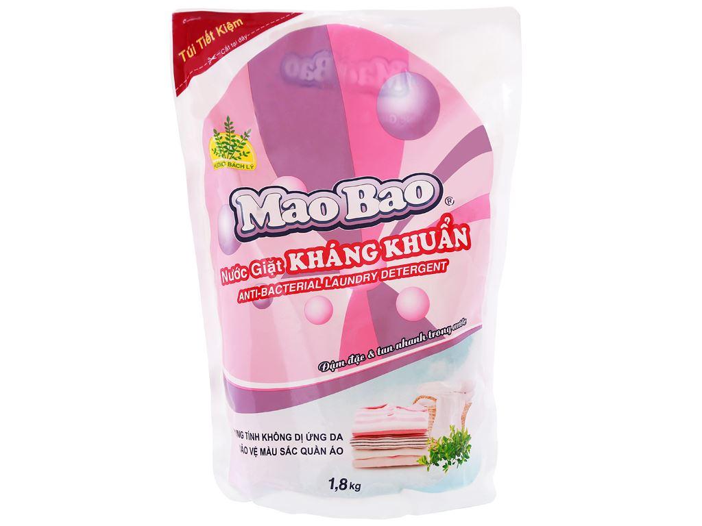 Nước giặt Mao Bao kháng khuẩn hương Bách Lý túi 1.8kg 1