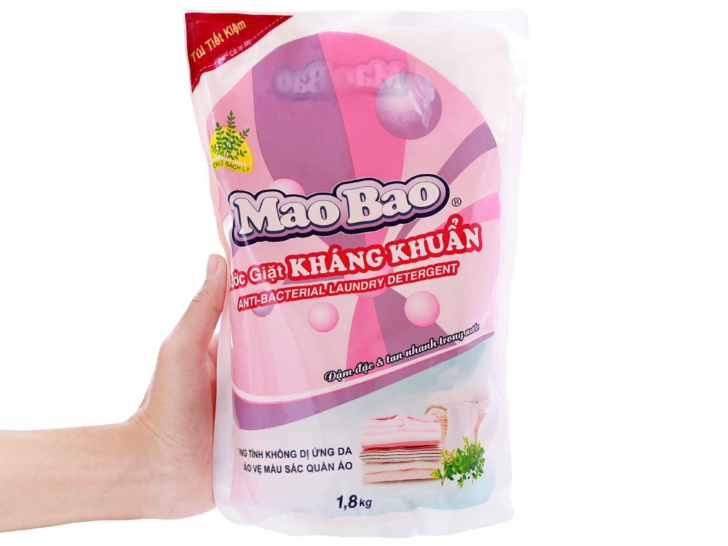 Nước giặt Mao Bao kháng khuẩn hương Bách Lý túi 1.8kg 4