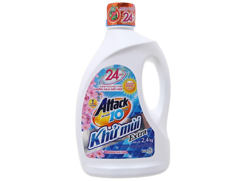 Nước giặt Attack hương hoa anh đào chai 2.3 lít 2