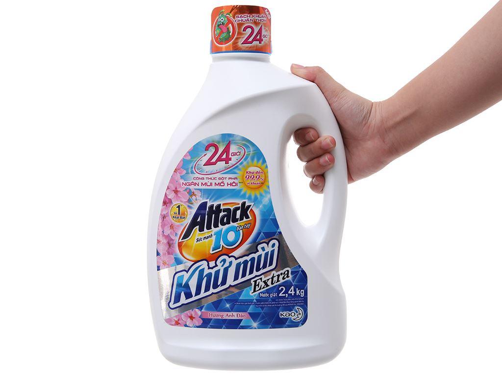 Nước giặt Attack hương hoa anh đào chai 2.3 lít 4