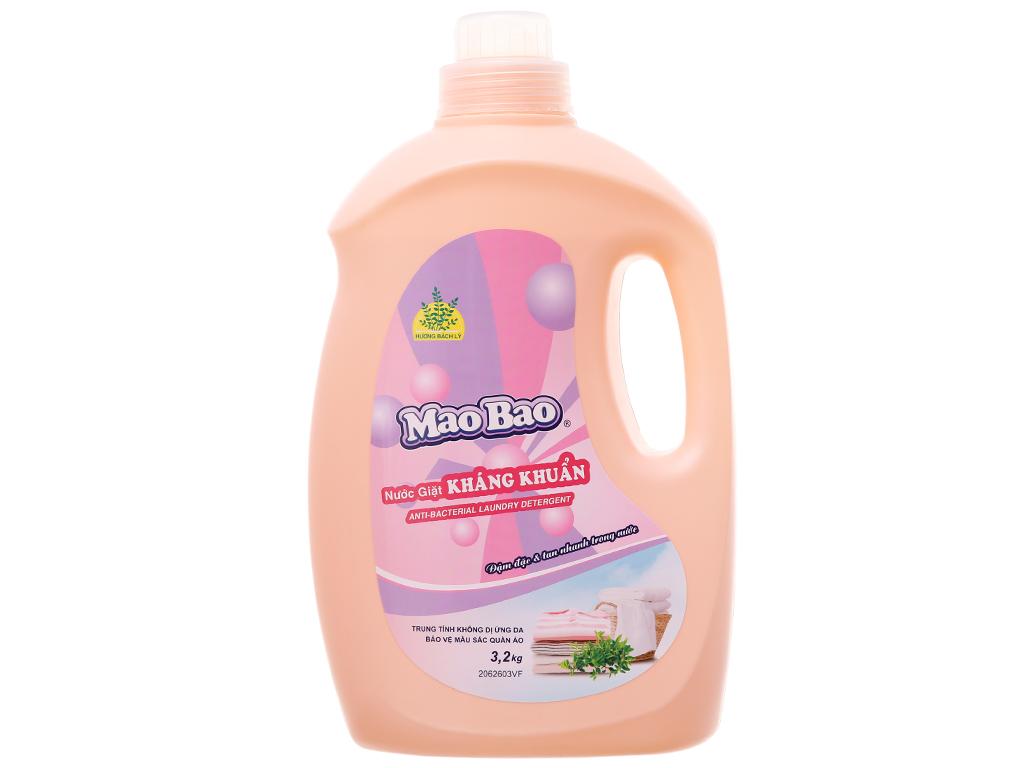 Nước giặt Mao Bao kháng khuẩn hương bách lý chai 3.1 lít 2