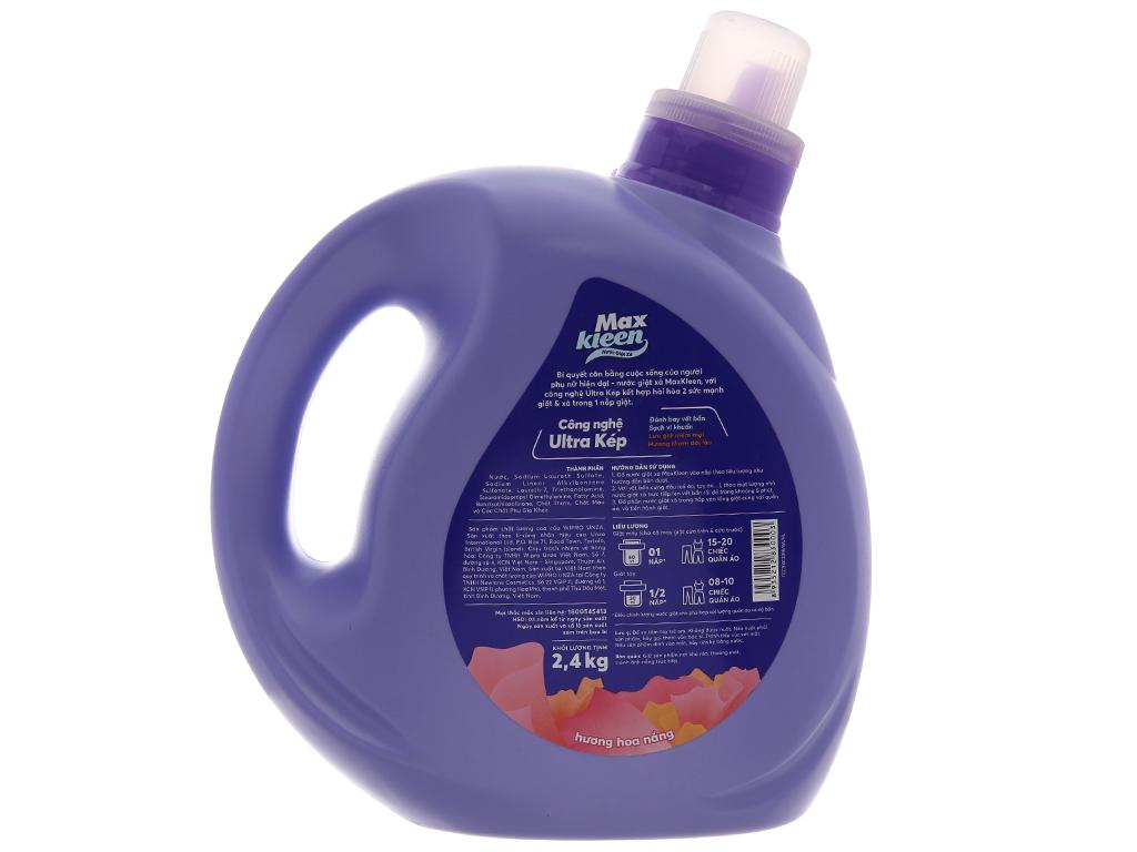 Nước giặt xả MaxKleen hương hoa nắng chai 2.4kg 3