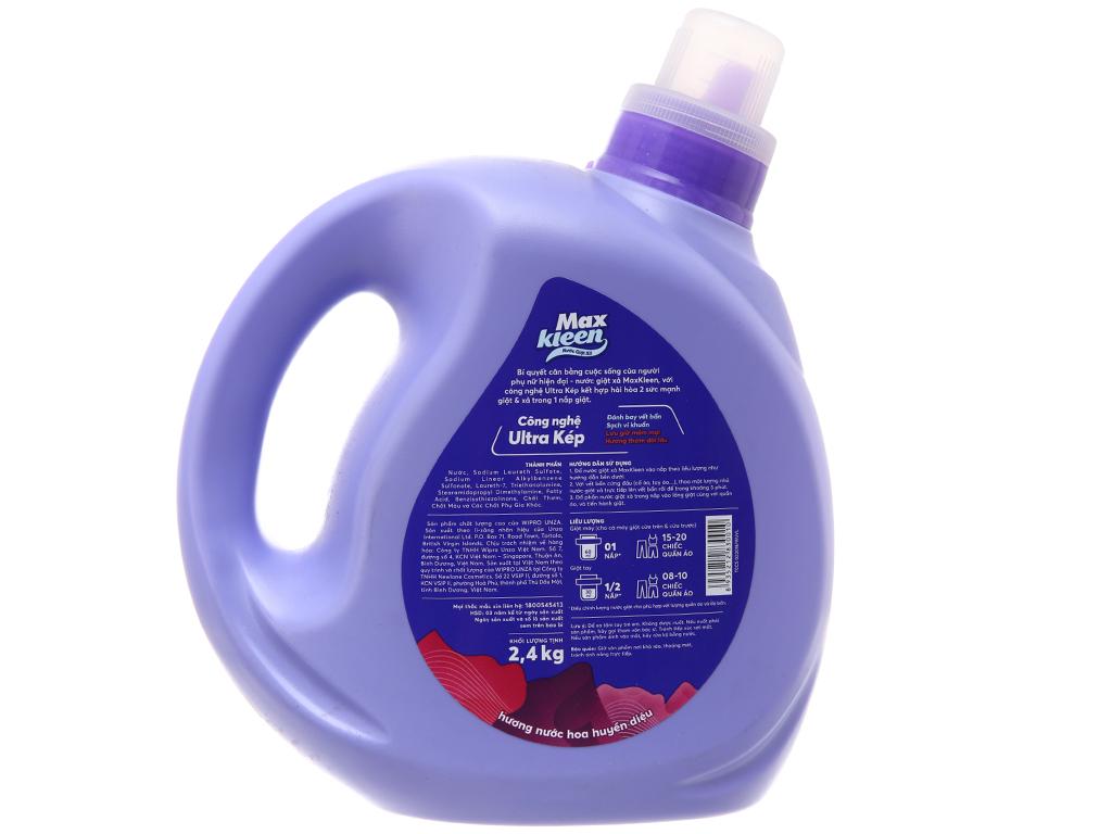 Nước giặt xả MaxKleen hương nước hoa huyền diệu chai 2.4kg 3