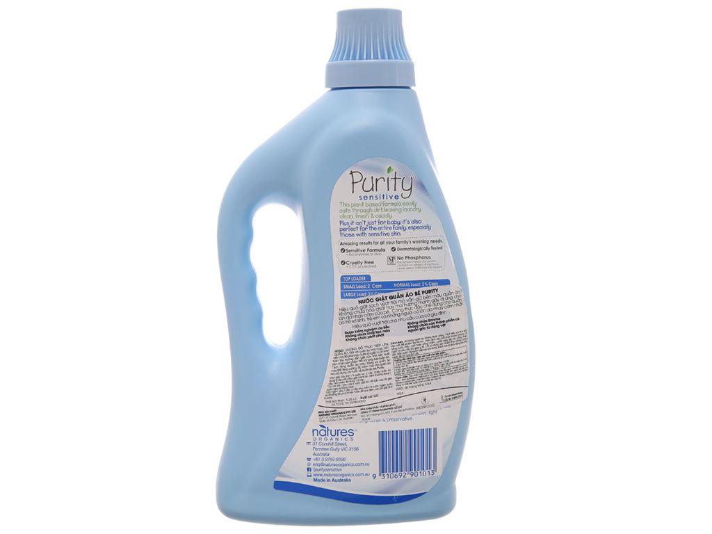 Nước giặt cho bé Purity chai 1.25 lít 2
