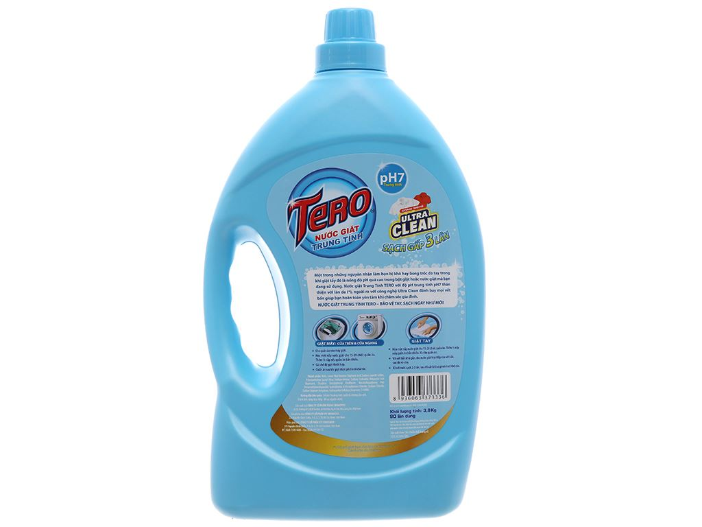 Nước giặt trung tính Tero Ultra Clean 3.8kg 3