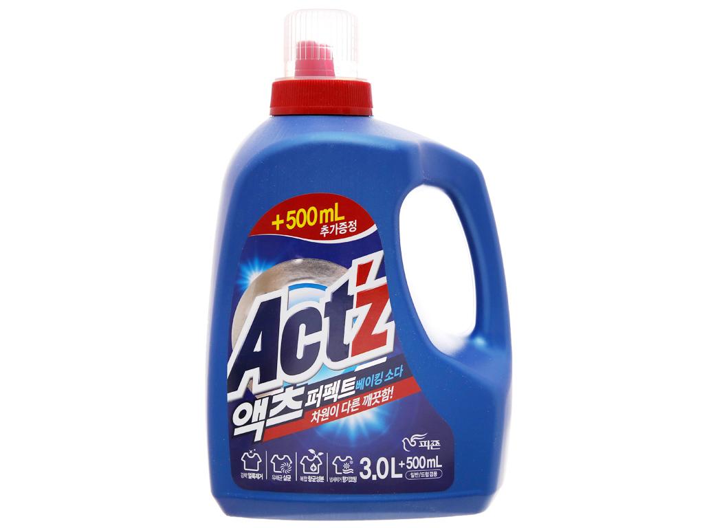 Nước giặt xả Act'z giữ màu & chống nhăn quần áo hương bạc hà chai 3.5 lít 6