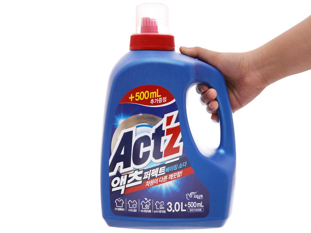 Nước giặt xả Act'z giữ màu & chống nhăn quần áo hương bạc hà chai 3.5 lít 8