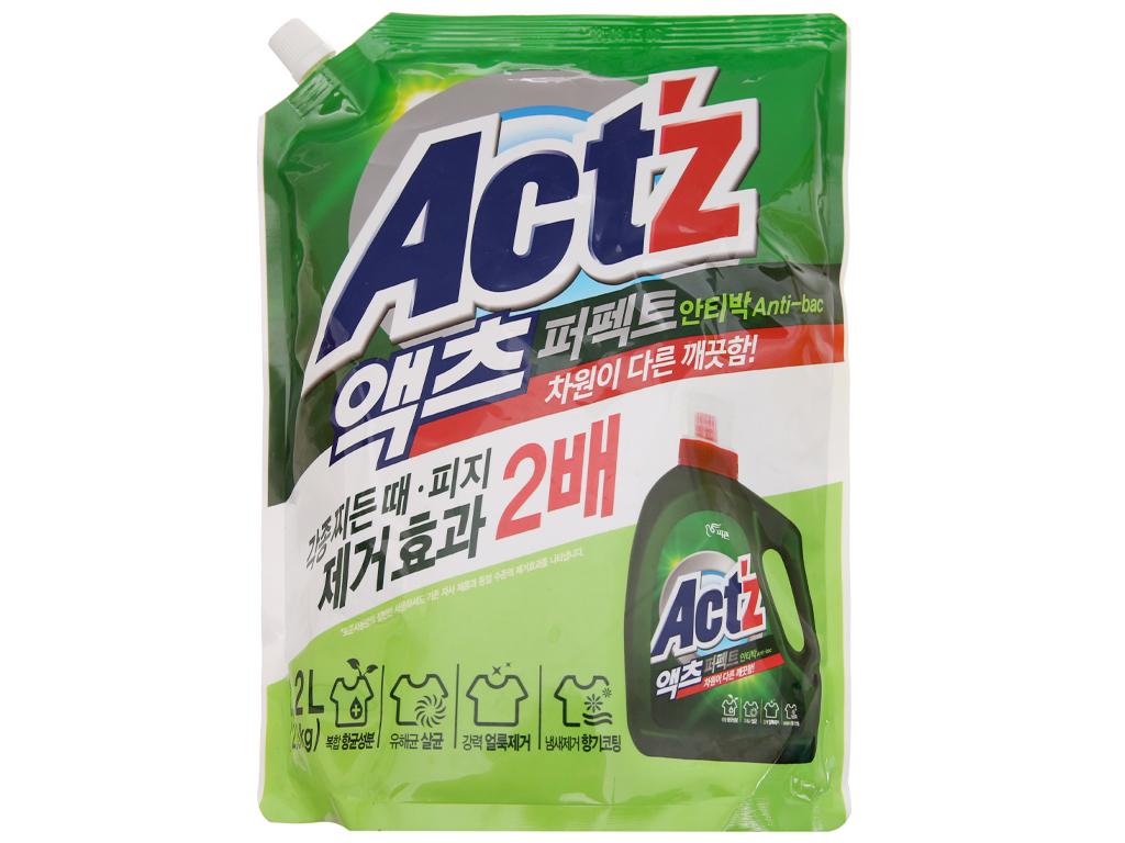 Nước giặt xả Act'z kháng khuẩn hương thảo dược túi 2.2 lít 2