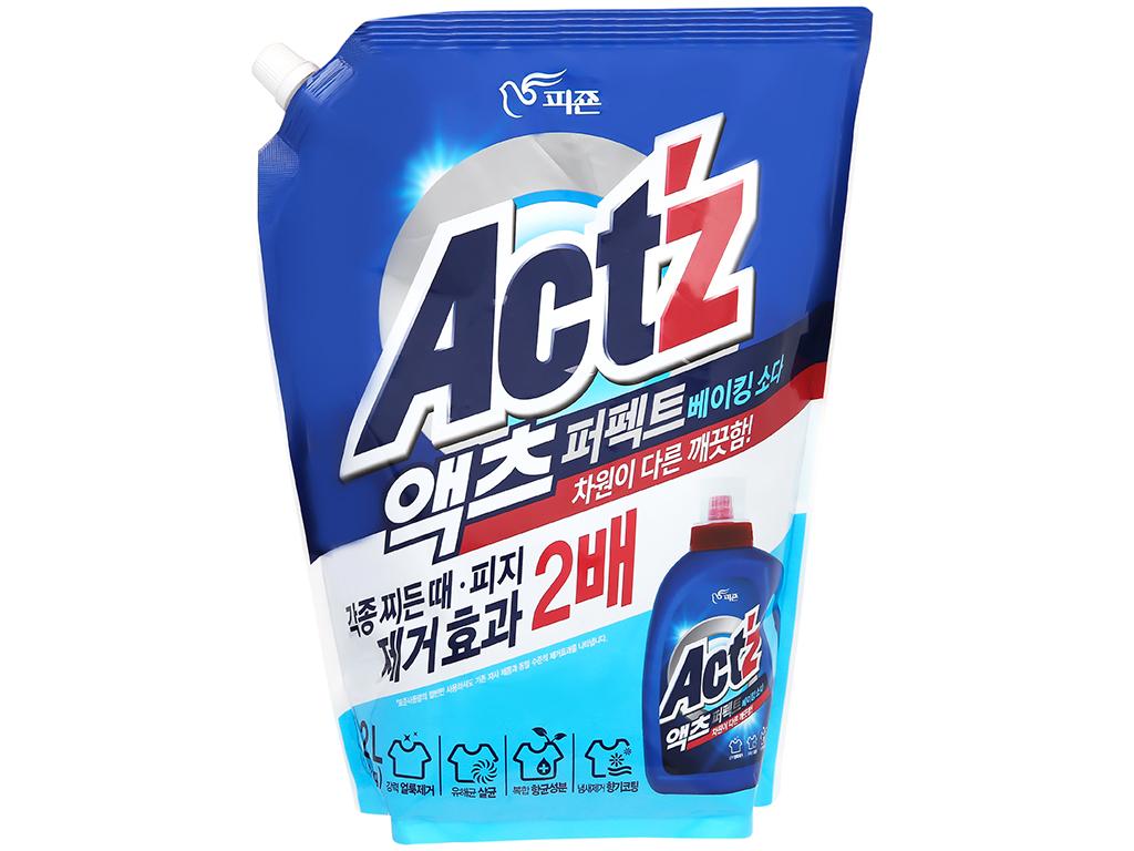 Nước giặt xả Act'z giữ màu & chống nhăn quần áo hương bạc hà túi 2.2 lít 1