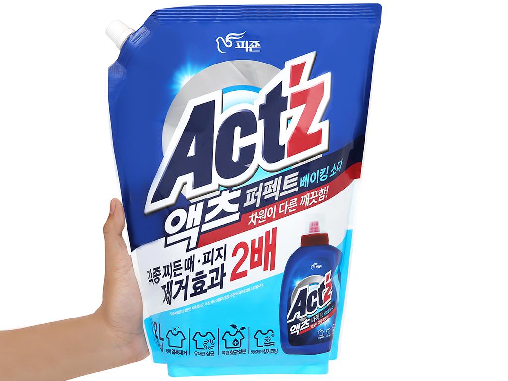 Nước giặt xả Act'z giữ màu & chống nhăn quần áo hương bạc hà túi 2.2 lít 4