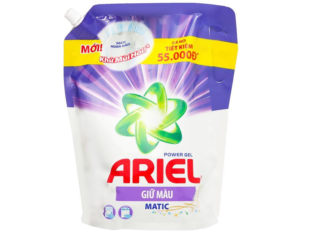 Nước giặt Ariel Matic giữ màu 2 lít 1