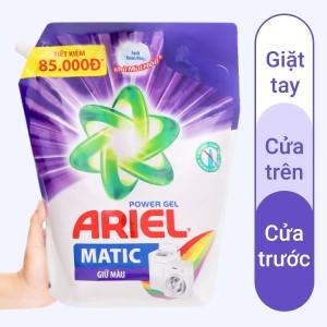 Nước giặt Ariel Matic giữ màu nước giặt dạng túi 3.1 lít