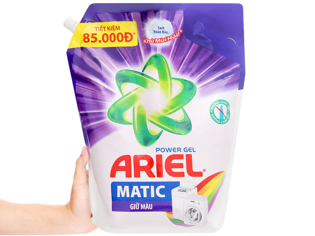 Nước giặt Ariel Matic giữ màu túi 3.25kg 5