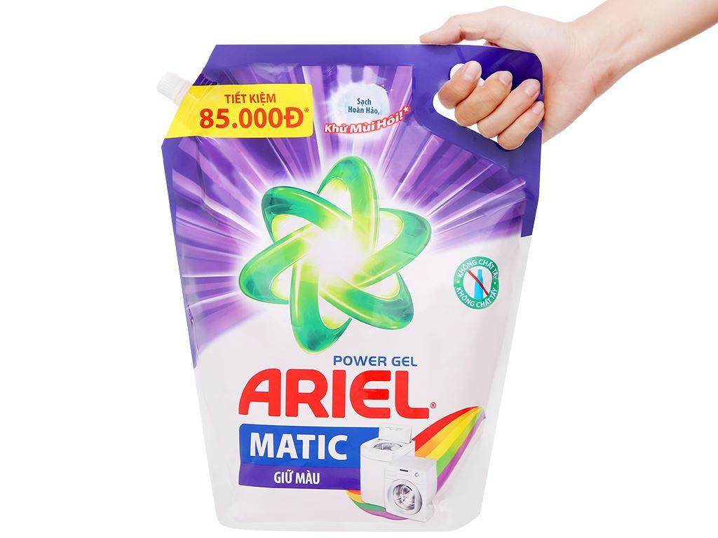 Nước giặt Ariel Matic giữ màu túi 3.25kg 6