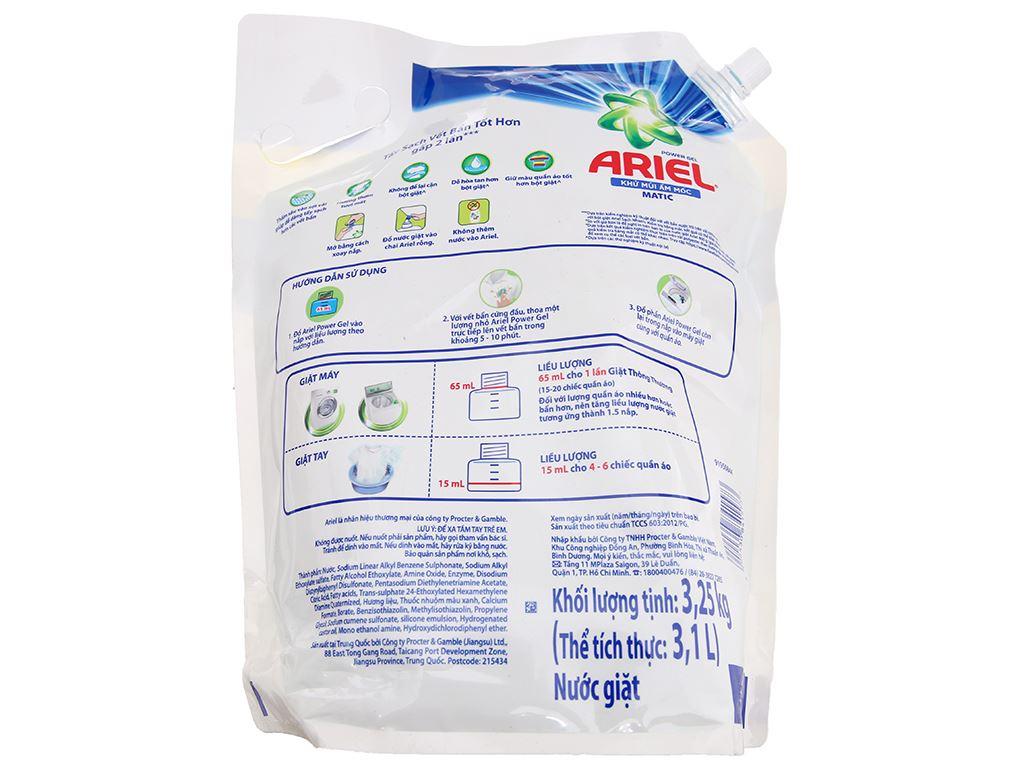 Nước giặt Ariel Matic khử mùi ẩm mốc 3.1 lít 2