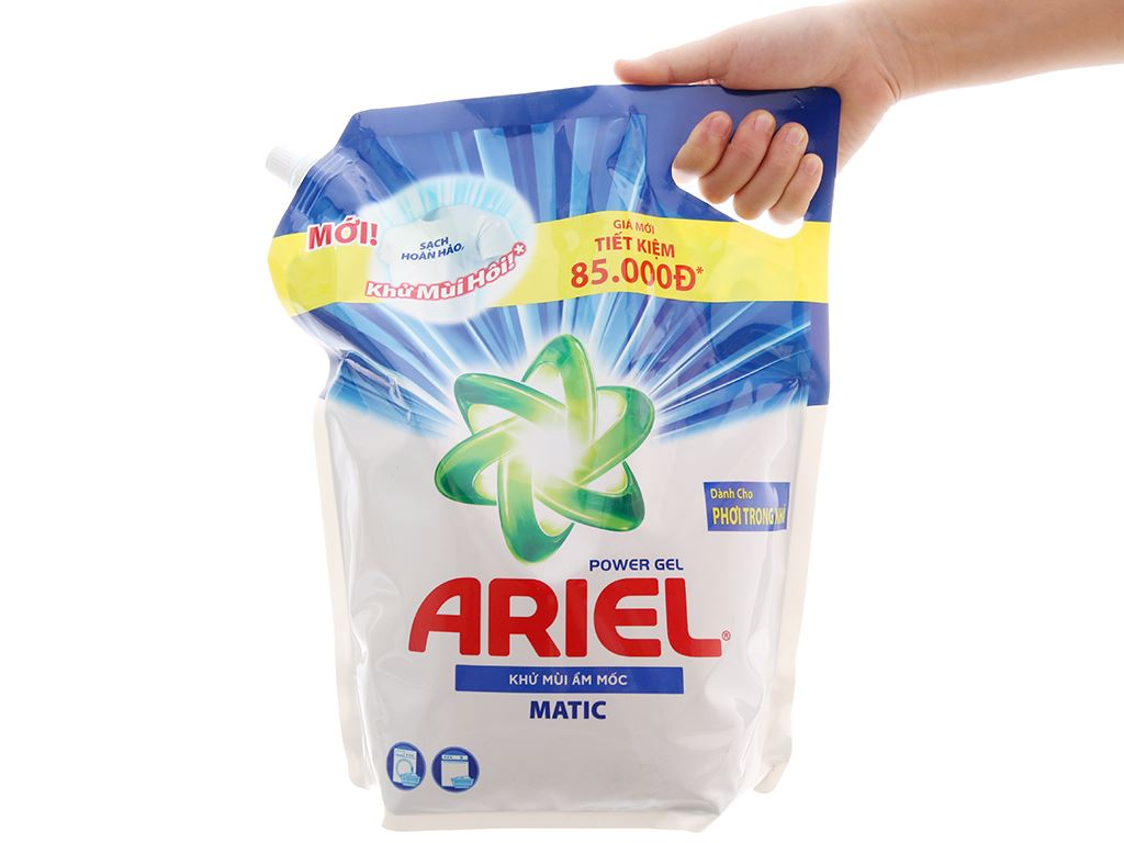 Nước giặt Ariel Matic khử mùi ẩm mốc 3.1 lít 3