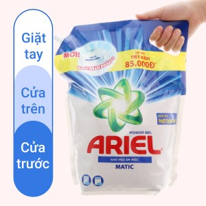 Nước giặt Ariel Matic khử mùi ẩm mốc nước giặt dạng túi 3.1 lít