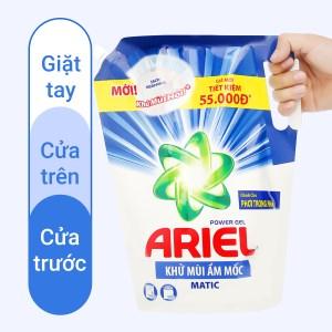 Nước giặt Ariel Matic khử mùi ẩm mốc túi 2 lít