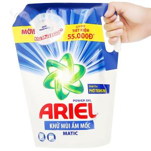Nước giặt Ariel Matic khử mùi ẩm mốc túi 2.15kg