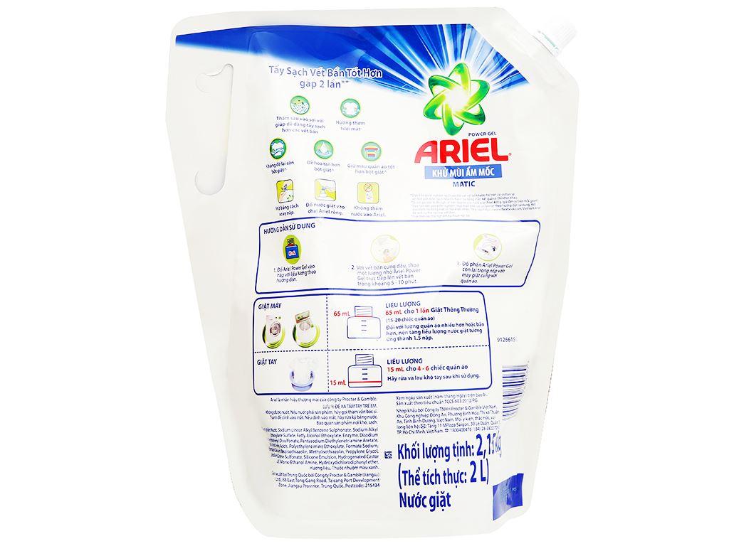 Nước giặt Ariel Matic khử mùi ẩm mốc túi 2 lít 2