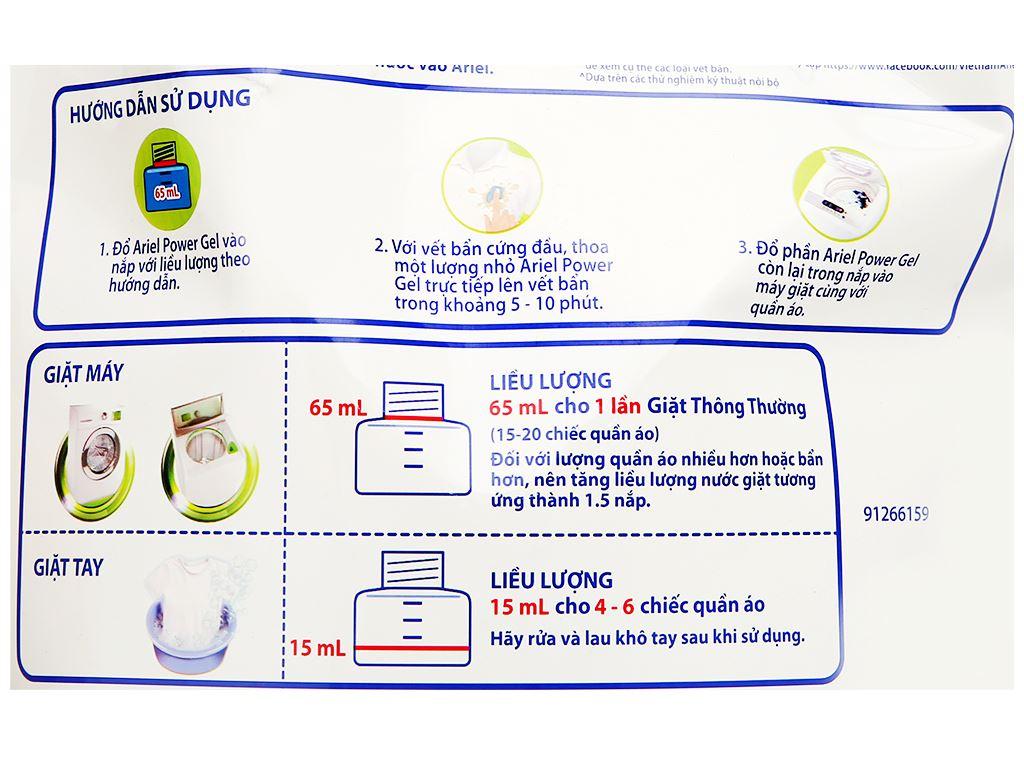 Nước giặt Ariel Matic khử mùi ẩm mốc túi 2 lít 3