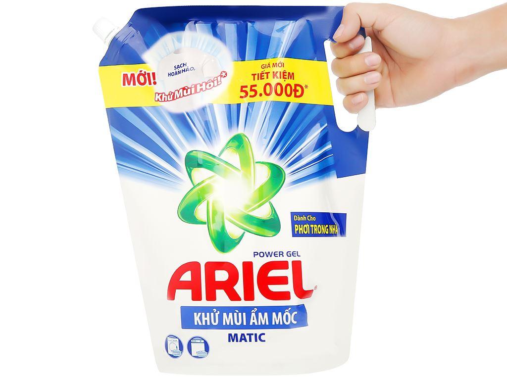 Nước giặt Ariel Matic khử mùi ẩm mốc túi 2 lít 5