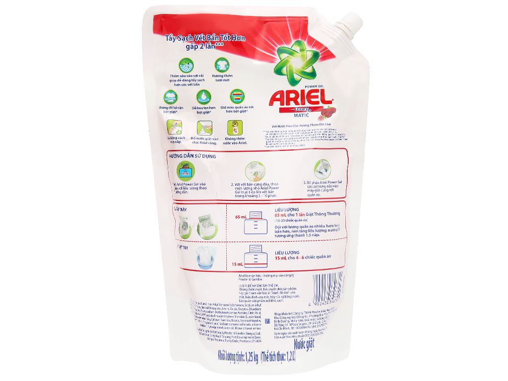 Nước giặt Ariel Matic hương Downy 1.2 lít 2