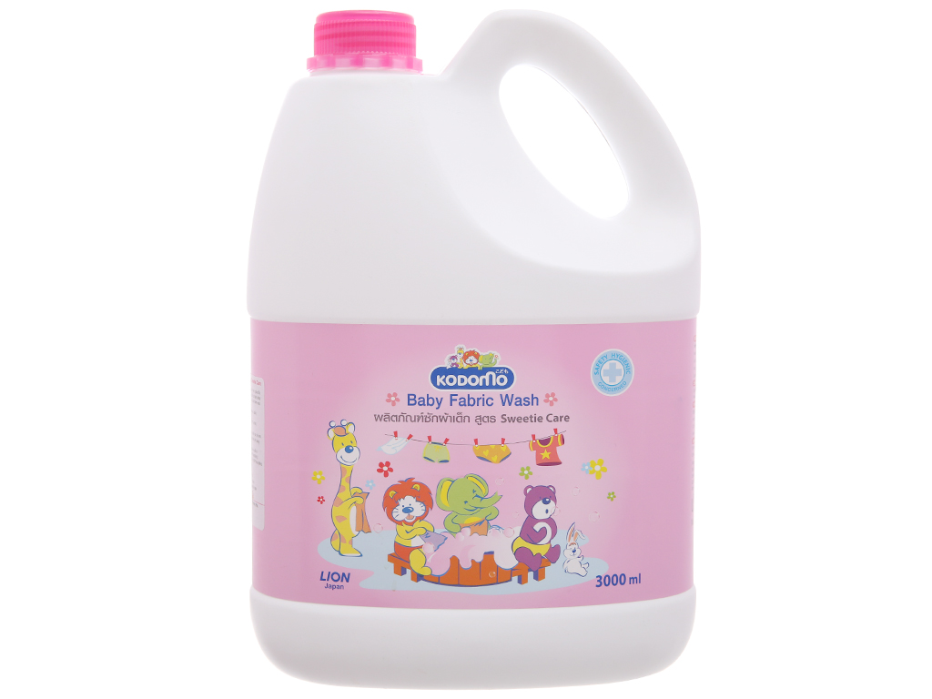 Dung dịch giặt xả Kodomo cho bé Sweetie Care can 3 lít 1