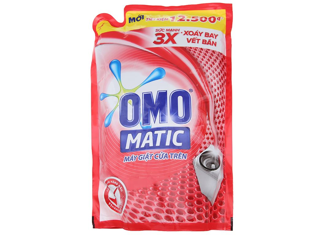 Nước giặt OMO Matic 3X xoáy bay vết bẩn túi 1.7kg 1