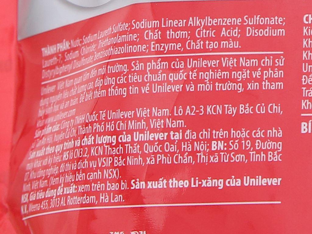 Nước giặt OMO Matic 3X xoáy bay vết bẩn túi 1.7kg 4