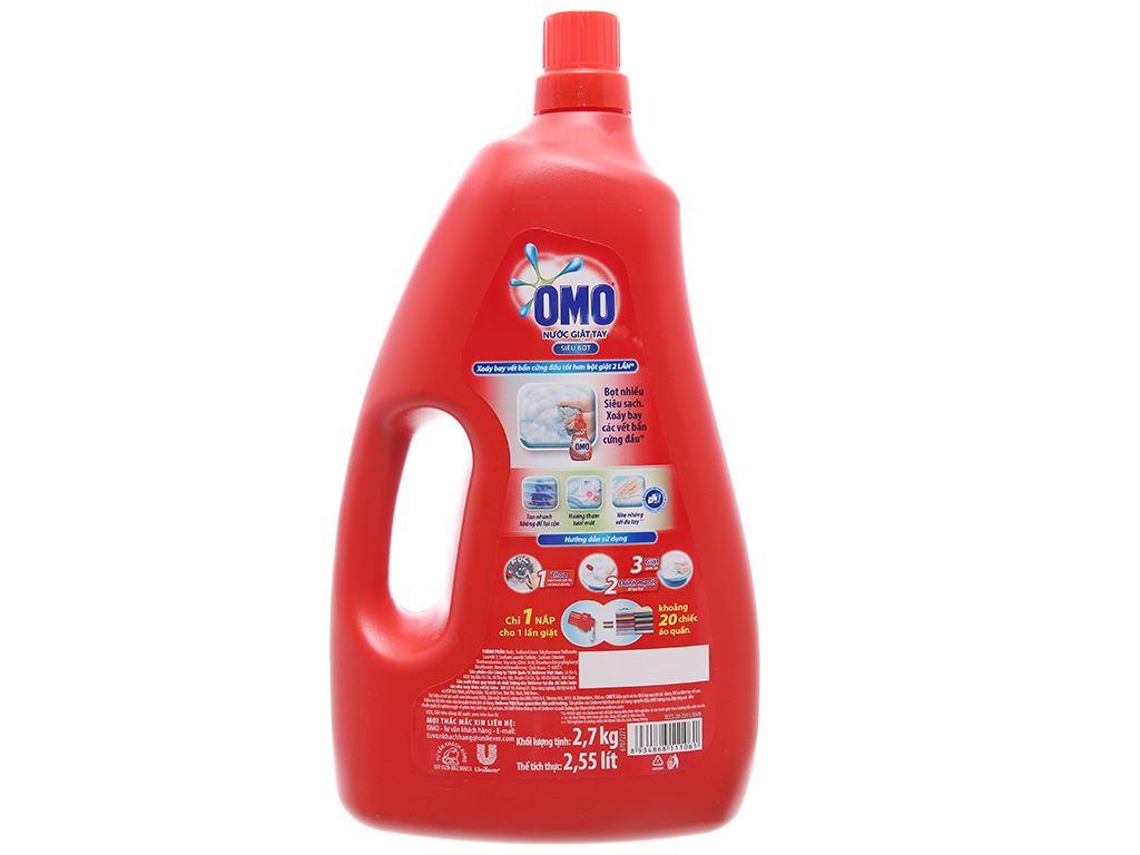 Nước giặt tay OMO siêu bọt chai 2.7kg 1