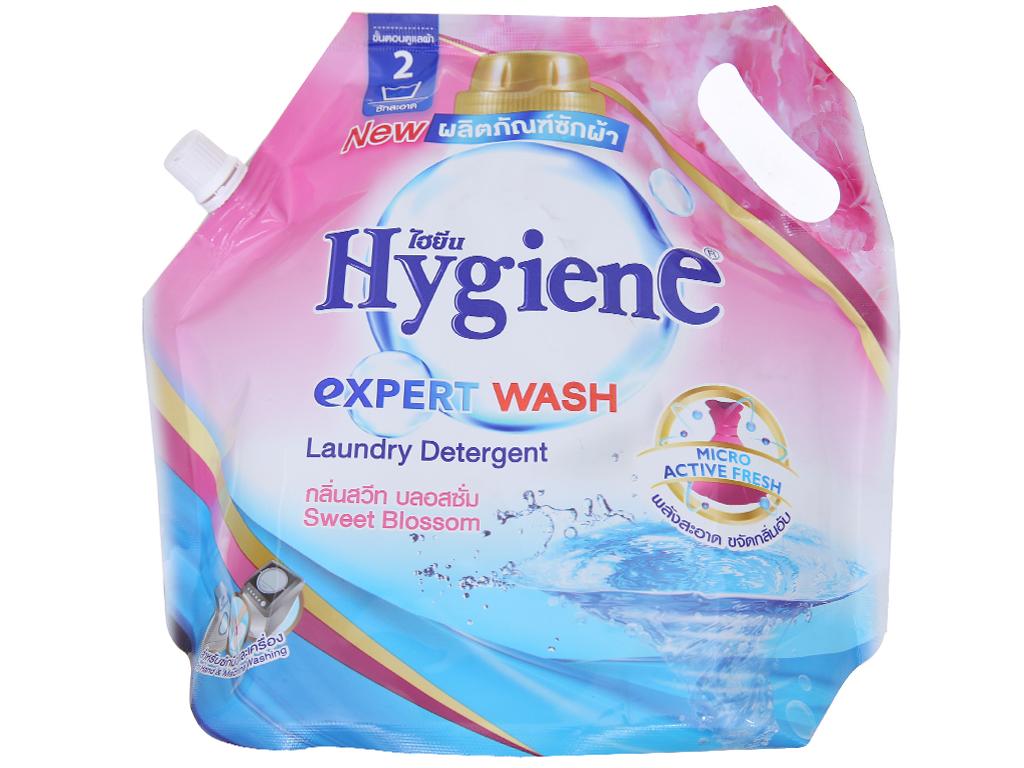 Nước giặt xả Hygiene hồng hương hoa nhẹ nhàng túi 1.8 lít 1