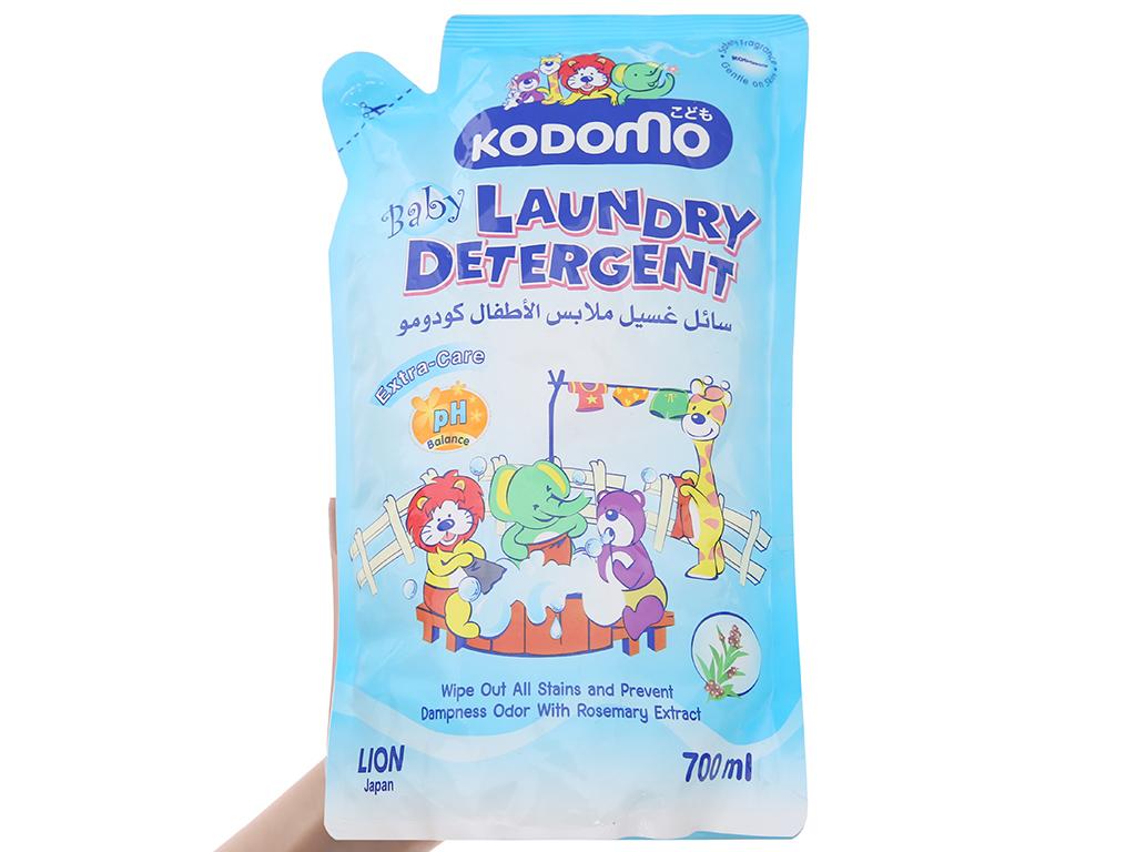 Nước giặt cho bé Kodomo xanh túi 700ml 3