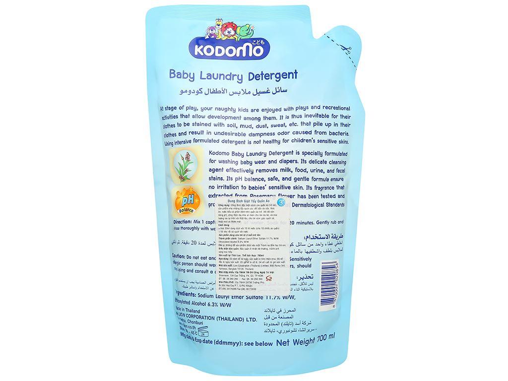 Dung dịch giặt tẩy Kodomo Extra care túi 700ml 2