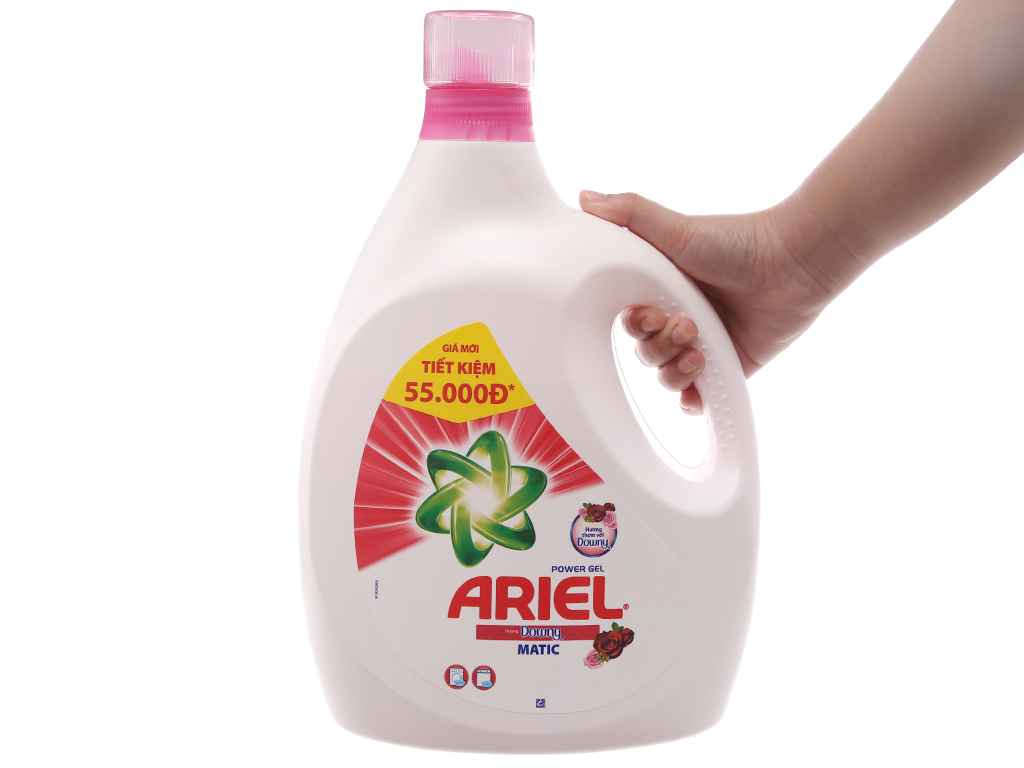 Nước giặt Ariel Matic Hương downy chai 3.4kg 4