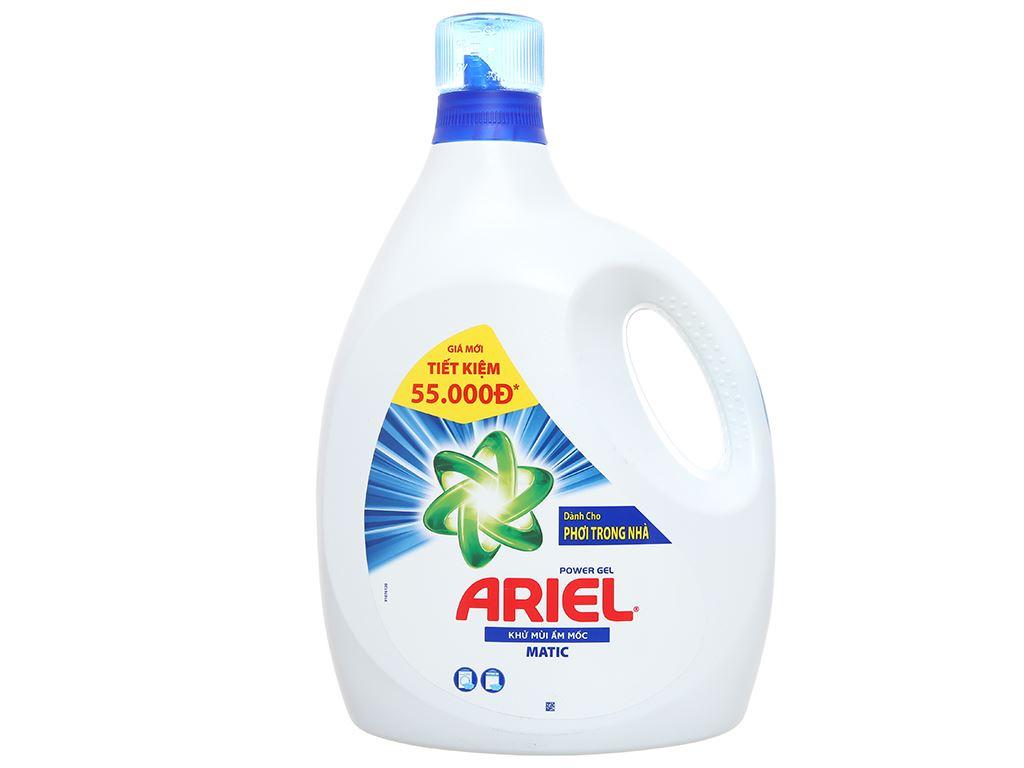 Nước giặt Ariel Matic khử mùi ẩm mốc chai 3.4kg 1