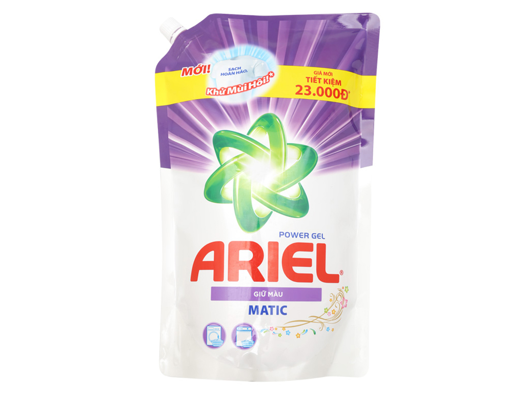Nước giặt Ariel Matic giữ màu túi 1.25kg 1
