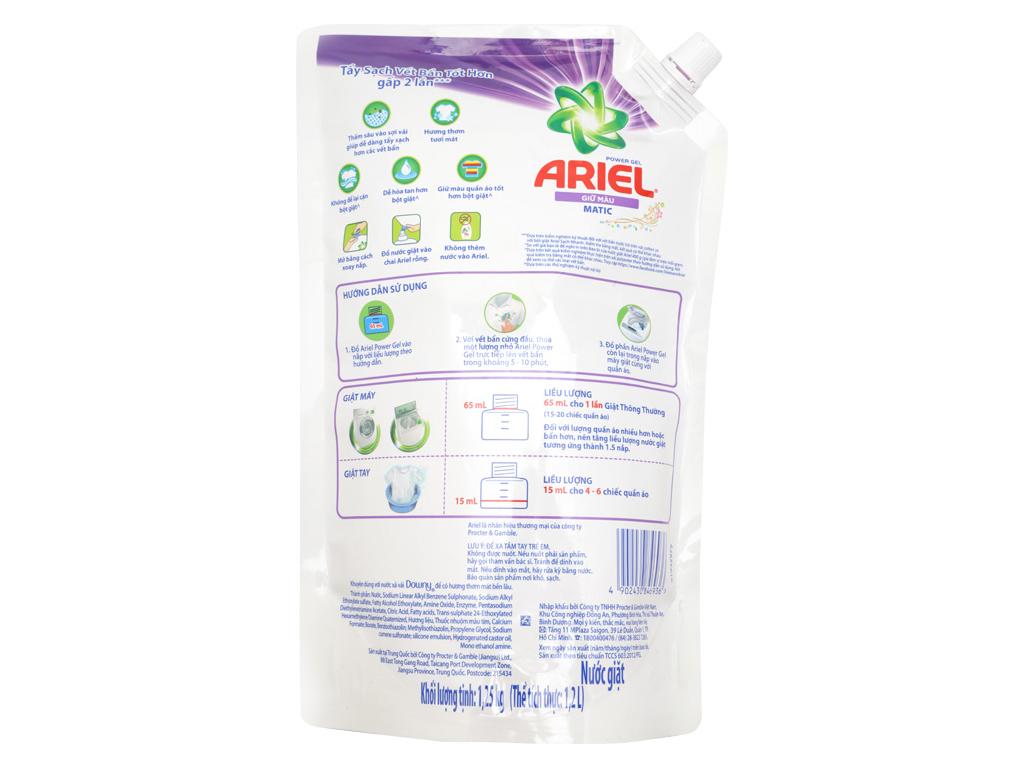 Nước giặt Ariel Matic giữ màu túi 1.25kg 2