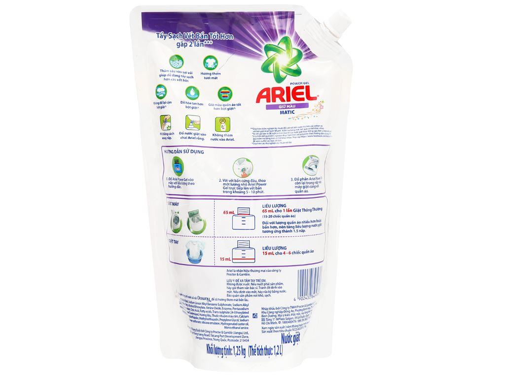 Nước giặt Ariel Matic giữ màu túi 1.2 lít 2