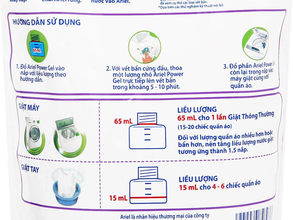 Nước giặt Ariel Matic giữ màu túi 1.2 lít 3