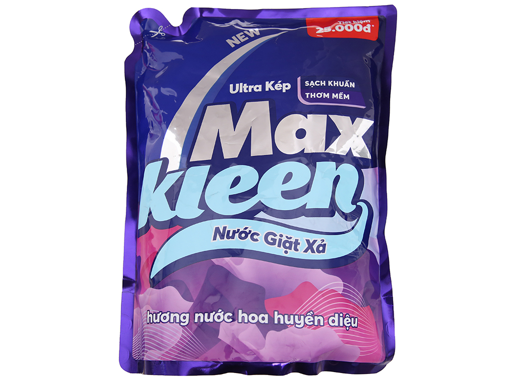 Nước giặt xả MaxKleen hương nước hoa túi 2.4kg 2
