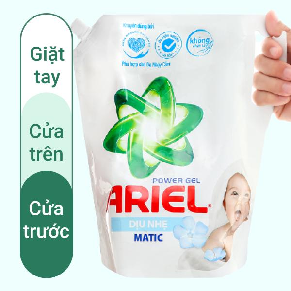 Nước giặt Ariel Matic dịu nhẹ hương sả nước giặt dạng túi 2 lít