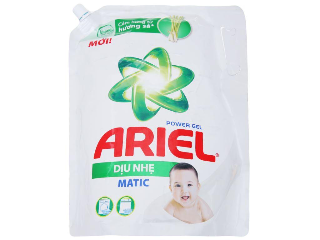 Nước giặt Ariel Matic dịu nhẹ hương sả túi 2.15kg 1
