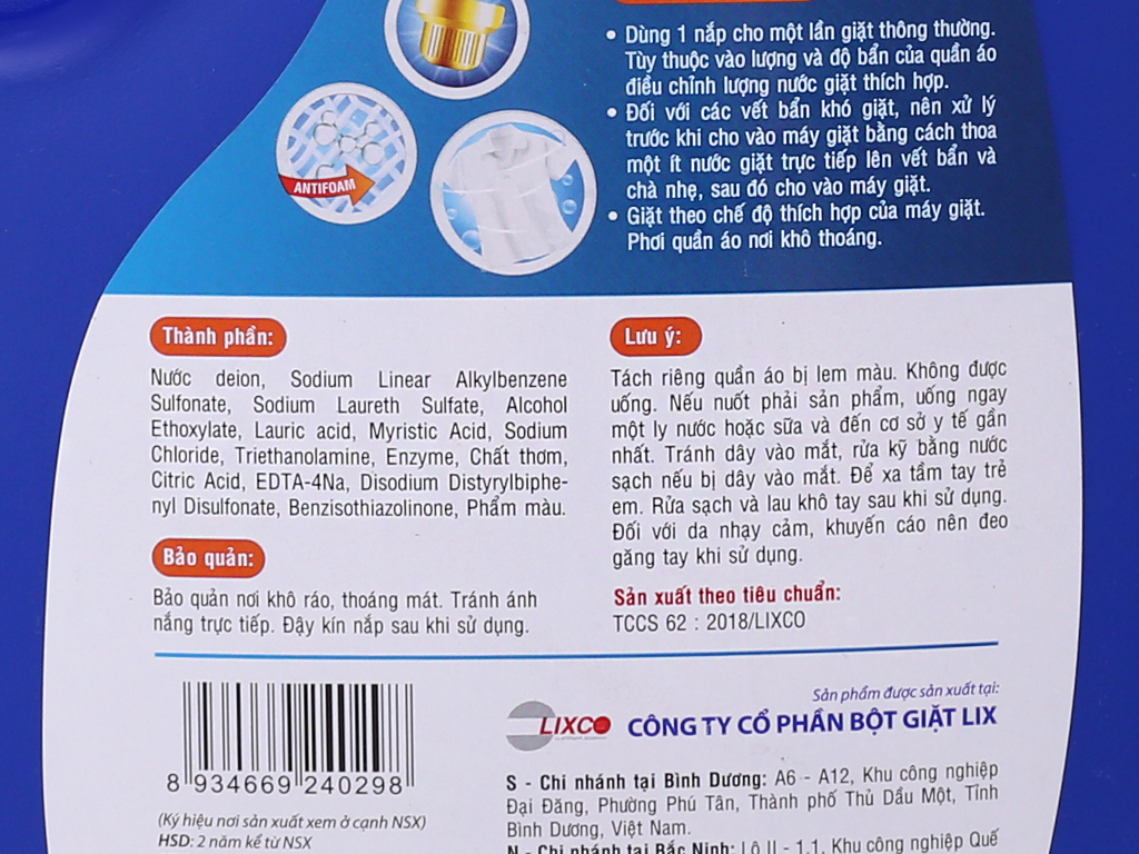 Nước giặt Lix Matic hương nước hoa chai 3.8kg 4