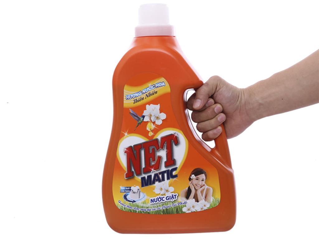 Nước giặt NET Matic hương nước hoa thiên nhiên chai 3.6kg 5