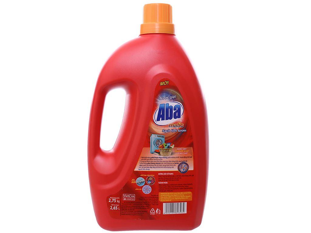 Nước giặt Aba Matic đỏ 2.65 lít 2